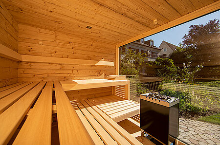 Außensauna als klassische Sauna